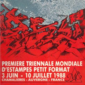 Première triennale mondiale d'estampes petit format, 1988. AMAC(c).