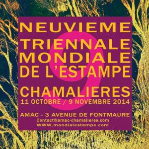 Neuvième triennale mondiale de l'estampe, 2014. AMAC (c).